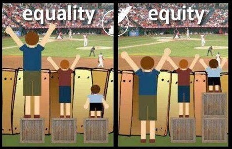 Is Our Goal Equality or Equity?